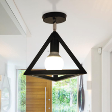 American rustic style retro industrial loft lamp simple triangle hanging pendant lamp old lamp brass lighting store(China)