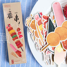 30 pcs/box Food barbecue paper bookmark stationery bookmarks book holder message card school supplies papelaria