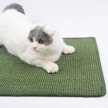 Natural Sisal Cat Scratcher Board Lounger Scratching Post Mat Toy for Tower Climbing Tree Pad Cooling Furniture Pet Product(China)