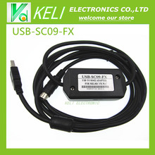 Free shipping  1pcs USB-SC09-FX  (black)  PLC Programming Cable for Mitsubishi MELSEC SC-09 SC09 FX, Support Win7