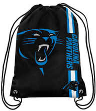 2017 New Fashion Carolina Panthers Drawstring Backpack Digital Printing Knitted Polyester Custom FOOTBALL Backpack