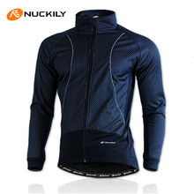 NUCKILY Winter Bike Clothing Rainproof Fleece Coat Thermal Bicycle Windproof Ropa Ciclismo Jacket Bicycle Cycling Jacket Men(China)