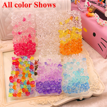 Lady Design Diamond Summer ice Crystal Clear Case for Huawei P8 P9 P10 Lite Nova Honor V8 V9 6X 7 Plus 4C 5X Bling Shiny Case