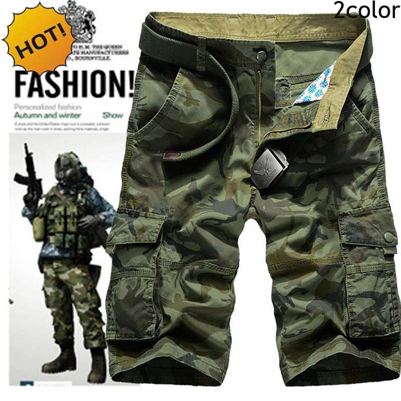 High Quality 2019 Summer Hot Style Men Baggy Short 100% Cotton Army Military Tactical Camouflage Desert Jungle Shorts Plus Size