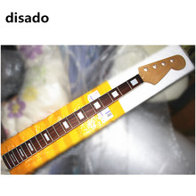 disado 20 frets maple electric bass guitar neck rosewwood fingerboard wood color glossy paint customized guitar parts