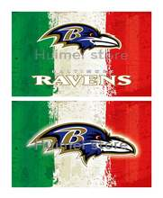 Baltimore Ravens team FLAG green white red strip American flag 100D Polyester custom Baltimore Ravens flag banner(China)