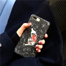 New Cool Street Fashion Fancy Cat Kitty Neko Koi Carp Print Hard Slim Back Cover For iPhone 6 s 7 plus Phone Cases Girls Boys