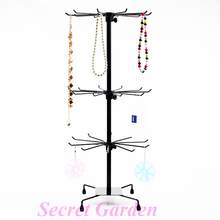 Wholesale Black Metal Rotating Handbag Chain Bracelet Necklace Display Stand Rack For Jewelry Made In China Cheap Price(China)