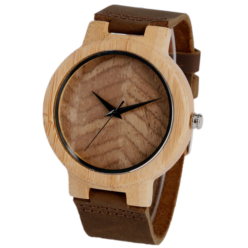 Fashion Natural Wood Bamboo Watch Creative Wave Pattern Wristwatch Handmade Wooden Quartz-watches For Men Women<br><br>Aliexpress
