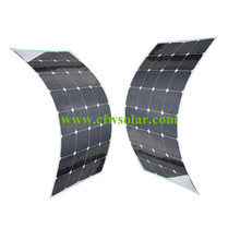 Sunpower cells, flexible solar panel 200W (2*100W)with Rohs CE certificates, front side connection, size 160*540*3mm.