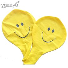 Ynaayu 2pcs/set Big Yellow Smiley balloon 36inch Funny Face With Smile Balloon Birthday Party Balloons Party Decorate