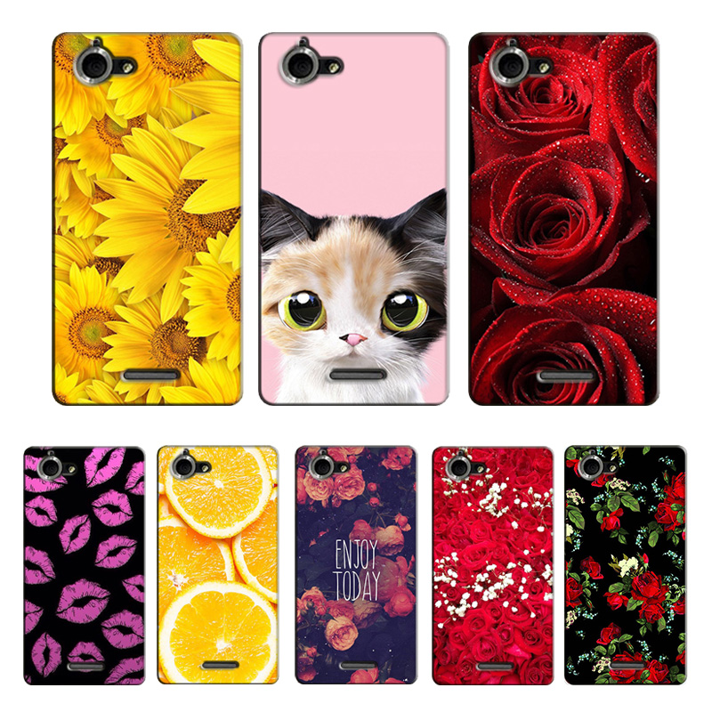 Case Sony Xperia L S36H C2105 C2104 Phone Case Cover Hard Plastic Phone Bag Sony Xperia L S36H C2105 C2104 Flower Coque