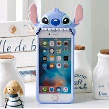 3D Cartoon Cute Mike Stitch Soft Silicone Back Cover Skin For iPhone 6/6s/6 Plus/6s Plus/7/7 Plus Phone Cases Funda Coque Capa