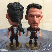 Soccerwe 2017 Season 2.55 Inches Height Football Player Dolls Milan Number 18 Baggio Figure Red Black for Hot Sales