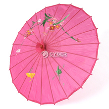 [ Fly Eagle ] Japanese Chinese Umbrella Art Deco Painted Rose-carmine NEW !!!(China)