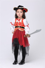 Girl Fantasia cosplay Pirate Captain Halloween Christmas party costume suits stage performance suits carnival cos costume