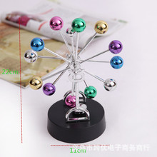 Metal Newton's Billiard Rotary Magnetic Crafts Ferris Wheel Sphere Ball Wiggler Desktop Decor Home Ornaments Gifts Souvenirs