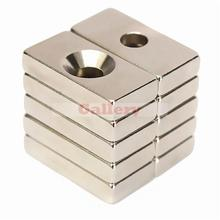 Limited Neodymium Magnet 30pcs Lot N50 20x10x4mm 4mm Hole Super Strong Block Rare Earth N52 Neodymium Magnet Generator