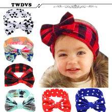 1PC Lovely Hair bands Headband Fashion Bunny Ear Girl Headwear Bow Elastic Knot Headbands Hair Accessories DT-44(China)