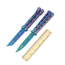 Colorful Folding Blade Balisong Knife Butterfly Practice Game Butterfly Training Trainer Knife Tool Gift No Sharp