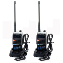 2Pcs 4800mAh BaoFeng BF-UVB2 plus Radio transceiver For long range wireless Walkie Talkie HAM Cb Radio uhf vhf Mobile in Moscow