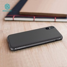 Nillkin Synthetic fiber for iphone x case Carbon Fiber PP Plastic Back Cover for iphone x ultra thin slim case luxury 5.8 inch(China)