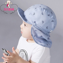 XCQGH Baby Hat Spring Summer Baseball Caps with Shawl Newborn Infant Baby Boy Hats Kids Boy Cap Bicycle Sun Baby Girl Hat 0-2T(China)