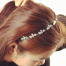 1 Chic Women Lady Elastic Fashion Metal Rhinestone Head Chain Jewelry Headband Hairband Hair Band Accessories(China)