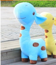 big lovely cartoon spots giraffe toys cute blue giraffe plush doll birthday gift about75cm