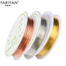 1 Roll Copper Wire Nail Art Decoration Charm Line DIY Design 3D Tips Gold Silver Rose Gold Rhinestones Jewelry Manicure Supplies(China)