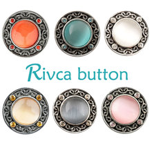 D01708 Rivca Rhinestone Snap Bracelet Button Snap Button for 18mm Button Bracelet Jewellery Hot Wholesale Free Shipping 2015 New(China)