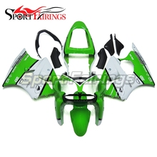 Fairings For Kawasaki Ninja ZX6R 00 01 02 ZX-6R 2000 2001 2002 ABS Injection Motorcycle Full Fairing Kit Body Kits Green White(China)