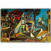 Pablo Picasso Abstract Paintings Image For Home Decoration Silk Canvas Fabric Print Poster Wallpaper CX189