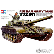 OHS Tamiya 35160 1/35 Russian Army Tank T72 M1 Military Assembly AFV Model Building Kits(China)