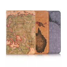 Leather Case For Samsung Galaxy Tab A 8 inch T350 Tablet PC Holder Case with Card slots Wallet World Map PU Flip Cover