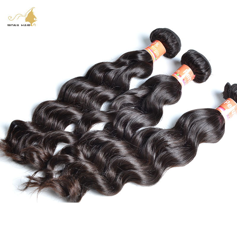 Mona Hair Products 8A Grade Virgin Peruvian Natural Wave Hair 1pc 100% beauty forever cheap-human-hair overnight shipping dhl<br><br>Aliexpress