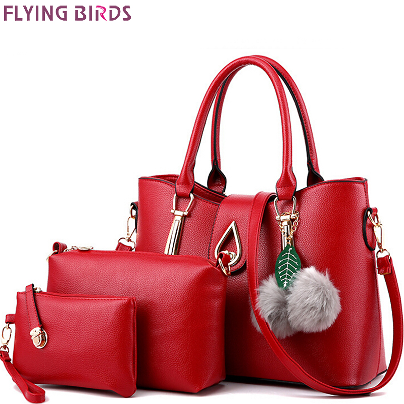 Flying birds women leather handbag set luxury tote women bag brands bolsos pouch messenger bags ladies female purse LM4070fb<br><br>Aliexpress