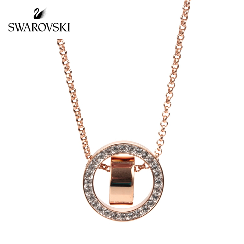Original Genuine swarovski necklace rose gold transfer bead collarbone chain a change of fortune for women 5289495