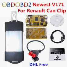 Latest V171 For Renault Can Clip Full Chip CYPRESS AN2131QC OBDII Auto Diagnostic Interface CAN Clip For Renault Code Scanner