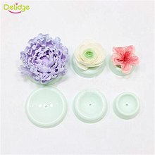 Delidge 6 pcs/set Fondant Drying Sand Button Round Shape Cake Flower Drying Stands Set Baking Fondant Flower Forming Dry Moulds