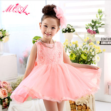 MQA L-51 baby girl clothes kids girl dress children girl beautiful princess party casual design girl wear 2017 new arrival