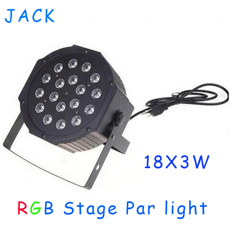 4PCS HOT stage light 18x3W 54W High Power RGB Par Light With DMX512 Master Slave Led Flat DJ Equipments Controller,Free shipping<br><br>Aliexpress