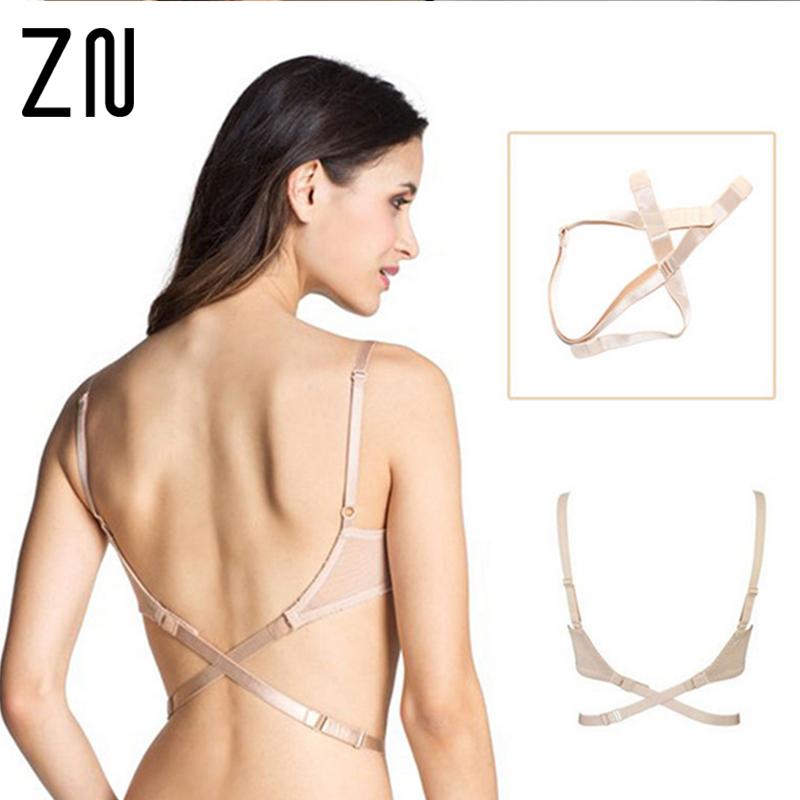 1pc Adjustable Strapless Bra Belt Straps Deep V-neck Low Back Bra Extender Hook Bra Strap Adapter Converter Fully Adjustable(China (Mainland))