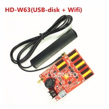 2017 Sale Hd-w63 Huidu Wireless Wifi + Usb Driver Led Controller , Wifi Single Color Led Control Card For Led Message Sign(China)