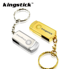 Kingstick metal usb flash drive 4gb 8gb pendrive 16gb 32gb 64gb 128gb memory stick silver/gold usb 2.0 pen drive u disk(China)