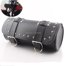 New Black Front Forks Tool Bag Luggage SaddleBag fits for motorbike/motorcycle custom free shipping(China)