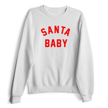 SANTA BABY Crewneck Sweatshirts Women Sexy  Tops Jumper Outfits Female Sweats Hoodies Girls Pullover