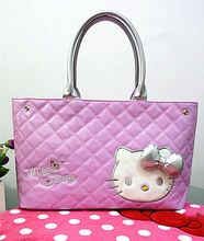 New Hello Kitty Big Handbag Tote Bag Shoulder Shopping Bag yey-16011P(China)