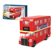 City Technic Series The London Bus Set Building Blocks Bricks Children Educational Toys Model Gifts(China)
