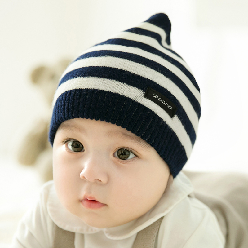 CieiK Newborn Photography Props Soft Baby Hat Warm Children Winter Cap Boys Girls beanie Infant Striped Muts Baby Accessories (4)